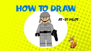 How to draw an AT ST Pilot - STEP BY STEP - DRAWING TUTORIAL