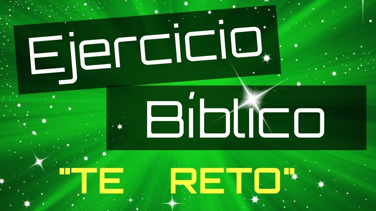 Ejercicio Biblico 1 Te Reto Sociedad De Jovenes Youtube