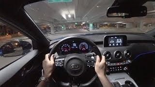 2018 Kia Stinger GT RWD - POV Night Drive (Binaural Audio)