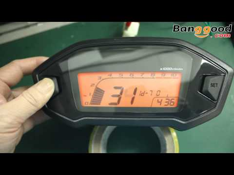 Motorcycle Digital Speedometer Seven Backlight  Banggood