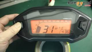 Motorcycle LCD Digital Odometer Speedometer - Banggood.com