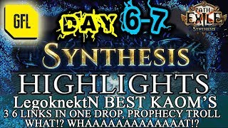 Path of Exile 3.6: SYNTHESIS DAY # 6-7 Highlights BEST KAOM'S, 3 6L IN 1 DROP