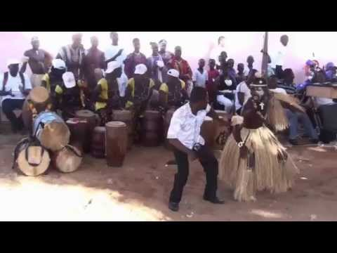 Cultural dance in Africa performed by Ewe tribe (Ghana-west