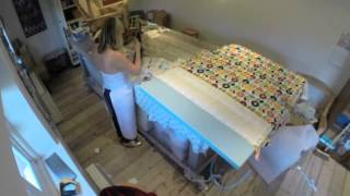 Fluted Headboard Upholstery Time Lapse
