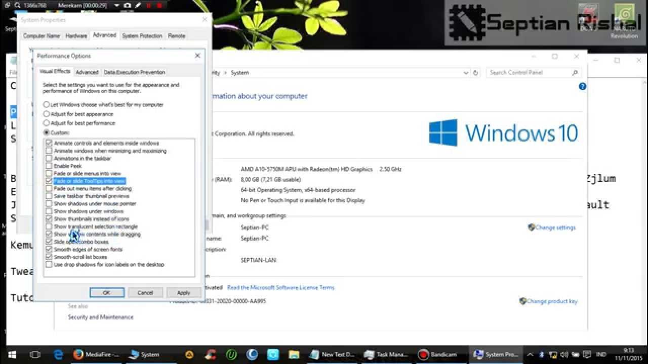 Tweak Mempercepat Windows 10 Mengatasi Lag Lemot Youtube