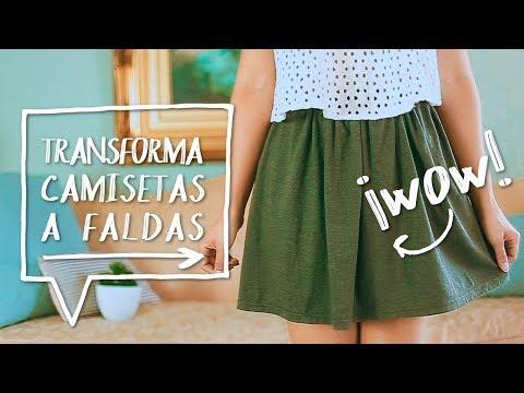 Transforma una CAMISA a una FALDA // DIY Recicla tus PLAYERAS! ♥ Alejandra