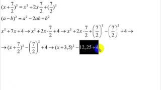 задания на дополнение до полного квадрата | 7 - 10