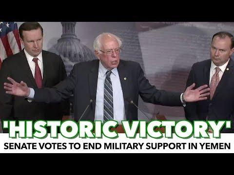 BREAKING: Senate Votes To End US Support Of War In Yemen