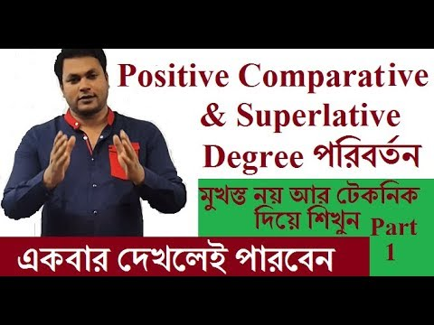 Basic English Grammar Rules of Comparison of Degrees for SSC HSC Superlative and comparative Degrees