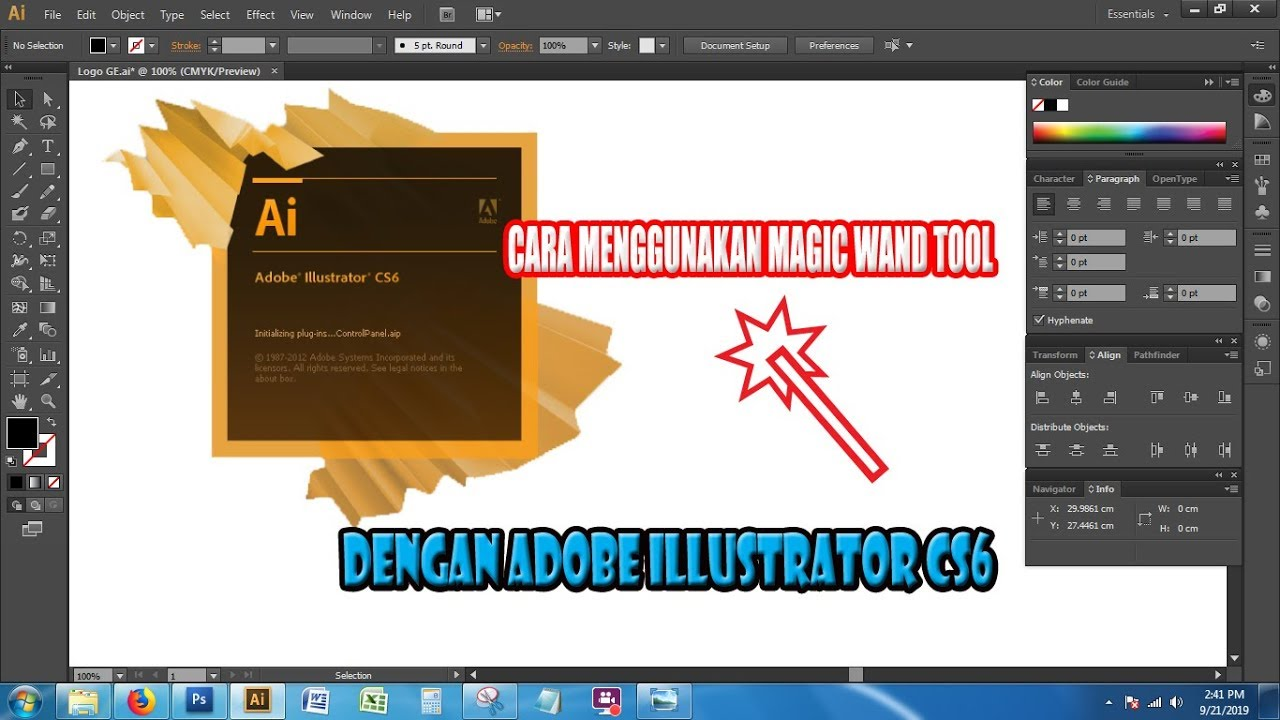 Cara Menggunakan Magic Wand Tool Pada Illustrator Cs6 Youtube