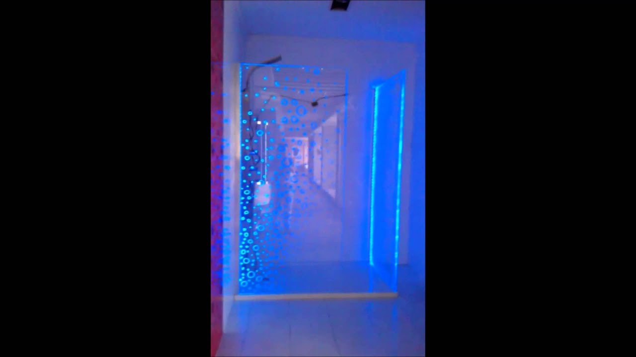 LED shower enclosure