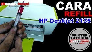 CARA REFILL Catridge HP deskjet ink advantage 2135, cara refill catridge hp 680