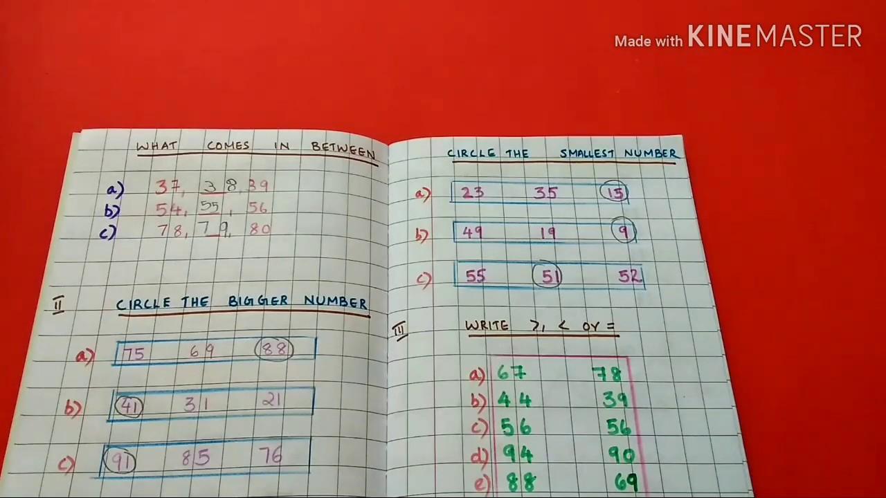 Ukg maths worksheet/entire syllabus revision