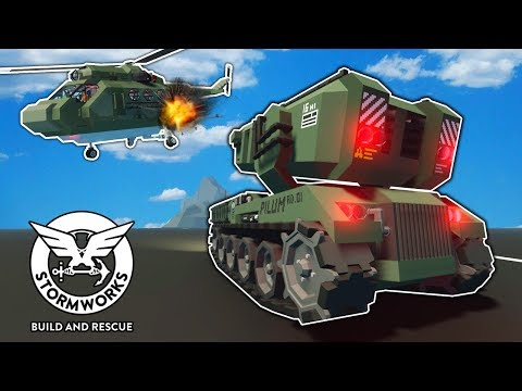 I Shot Friendship Missiles at OB's Helicopter! - Stormworks Multiplayer Gameplay