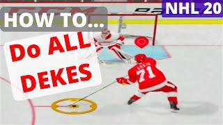 NHL 19: HOW TO DO ALL DEKES