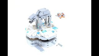 Lego Hoth At-at And Snow Speeder  Mini-model
