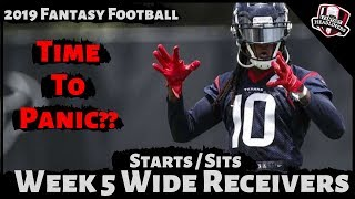 2019 Fantasy Football Advice - Week 5 Wide Receivers - Start or Sit? Every Match Up