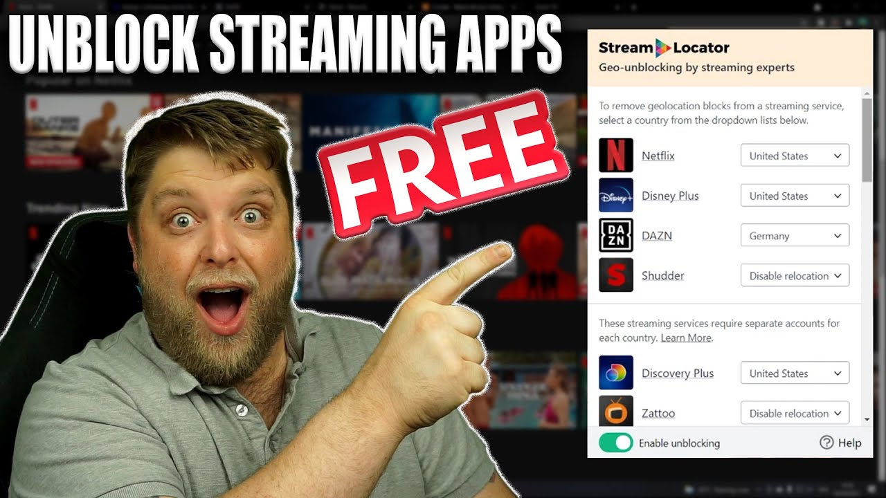 Download Unblock Streaming Apps......