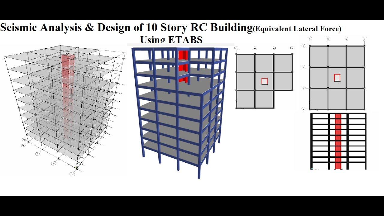 Seismic Analysis Design Of 10 Story Rc Building Using Etabs Youtube