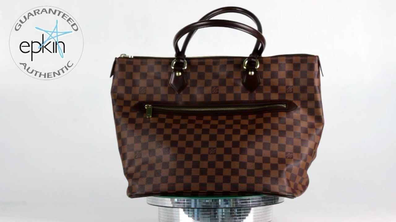 c817dae25f5d Louis Vuitton Saleya GM Damier Ebene Tote Authentic Handbag Bag LV New Purse