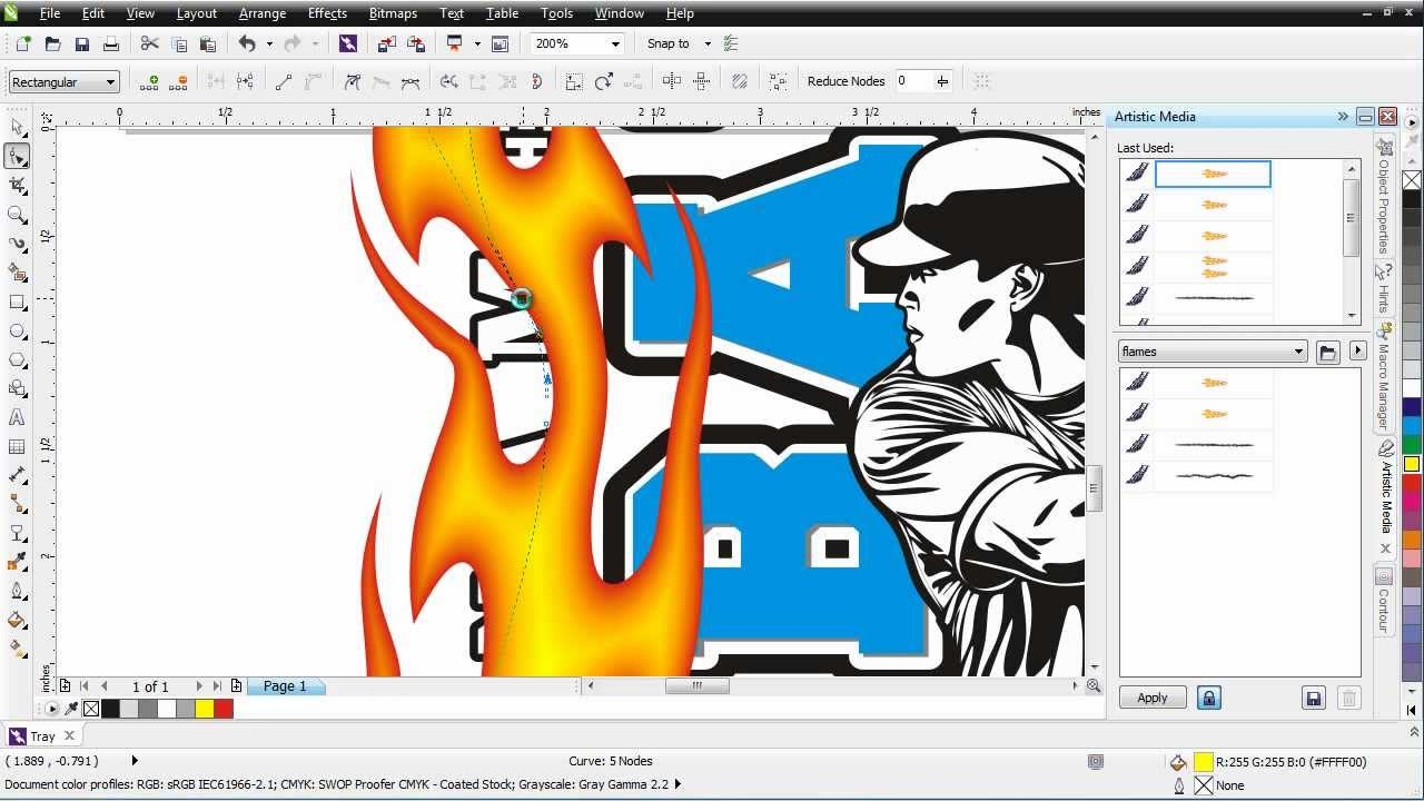 coreldraw x6 working with brushes video tutorial youtube rh youtube com tutorial coreldraw x6 lengkap pdf tutorial corel draw x6 youtube