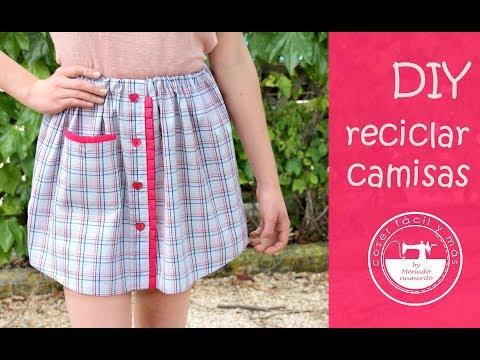 Ideas para reciclar: de camisa a falda, muy fácil