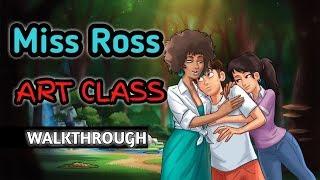Miss Ross Walkthrough | Art Class | Tutorial SummertimeSaga Indonesia v0.15.30