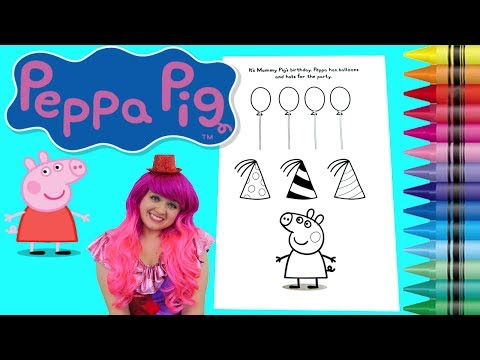 Coloring Peppa Pig Coloring Book Page Colored Markers Prismacolor | KiMMi THE CLOWN
