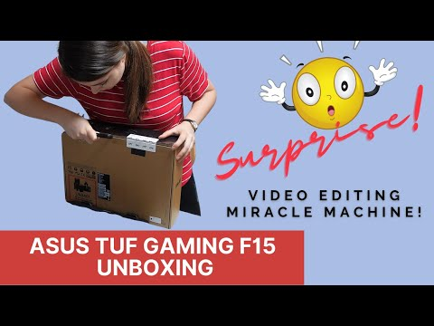 ASUS TUF Gaming F15 computer: The perfect laptop for video editing!
