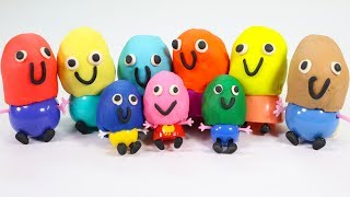 Peppa Pig Toys Collection Royal Family and Friend | Play Doh Molds Creations for Kids Children