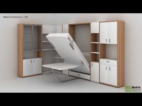 Matrix Space Wall Bed Murphy Bed Space Saving Furniture Collection 2016