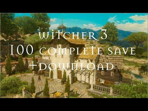 Witcher 3 - 100% Complete Save + Download (Save Download Link In Description)