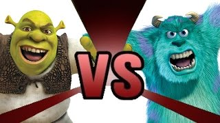 SHREK vs SULLEY Cartoon Fight Club Episode 8