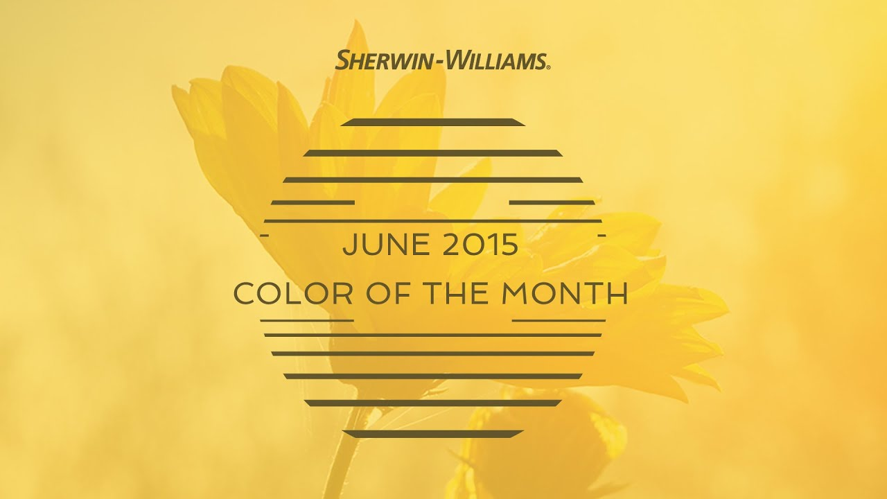 June 2015 Color Of The Month Decisive Yellow Sherwin