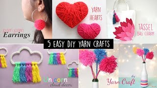 5 Cute and Easy Yarn Crafts | Handmade Crafts