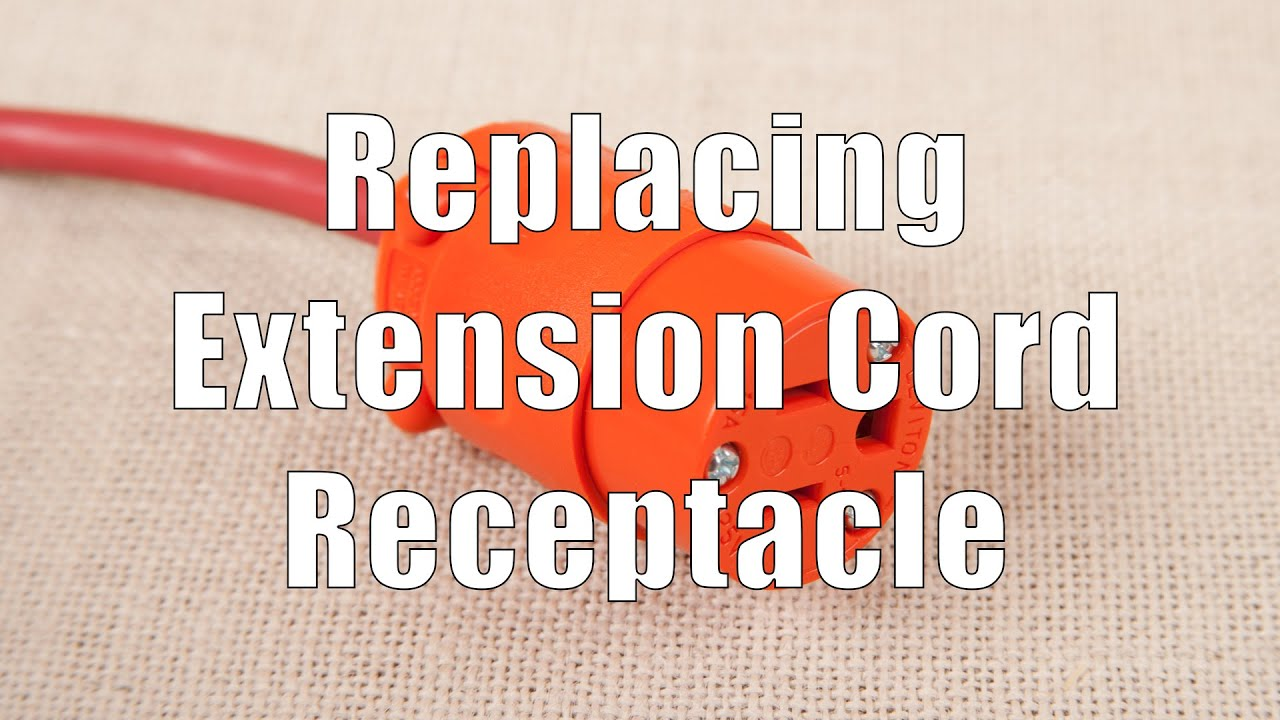 How To Replace An Outdoor 14 3 Or 16 Extension Cord Receptacle Replacement Plug Terminal Dituro Productions