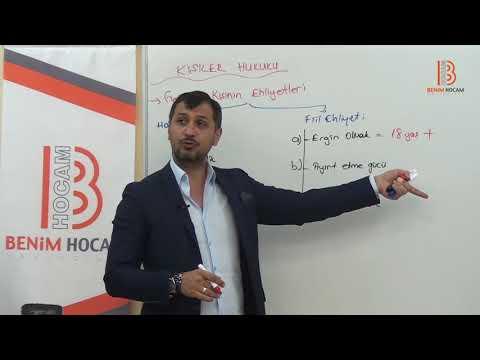12) Serkan KARAOĞLU - Medeni Hukuk - Ehliyetler - I - (2018)