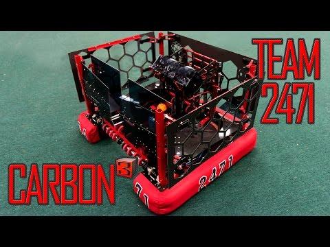 Carb³  FRC 2017 Steamworks Robot Unveil   Team 2471