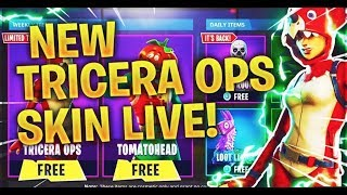 NEW FORTNITE TRICERA OPS SKIN *LIVESTREAM*