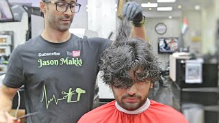 Amazing Hair Transformation★ His Family Won't Recognize Him   Hair Care   Curly hair ★