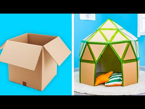 EASY DIY CARDBOARD CRAFTS || 5-Minute Decor Projects With Cardboard