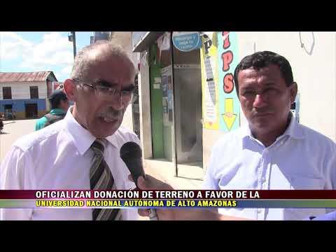 OFICIALIZAN DONACIÓN DE TERRENO A FAVOR DE LA UNAAA