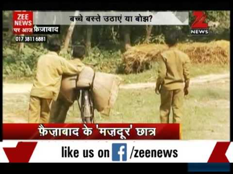 Underage children forced to do labour work for primary school in Faizabad, UP