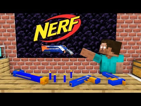 Monster School: Tantangan NERF WAR - Animasi Minecraft