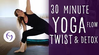 Video 30 Min Yoga Vinyasa Flow, Twist and Detox with Fightmaster Yoga download MP3, 3GP, MP4, WEBM, AVI, FLV Maret 2018