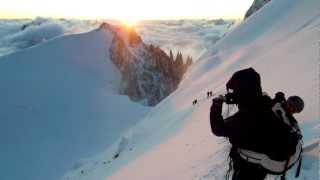 Mont Maudit 7 juillet 2012 conditions difficiles 5 jours avant le drame du 12 juillet