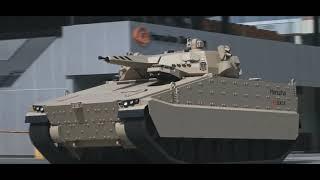 국산 미래형 보병전투장갑차인 레드백 장갑차 영상
