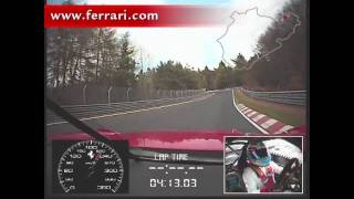Ferrari 599xx Lap Of The Nurburgring