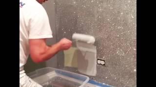 DIY Glitter Wall