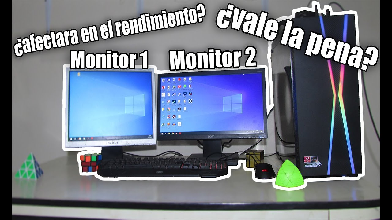 ¿Como usar dos monitores en una PC?